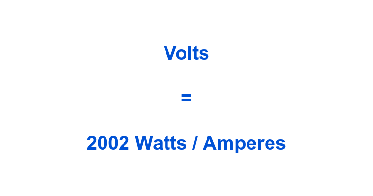 2002 Watts to Volts