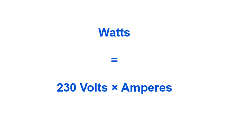 230 Volts to Watts