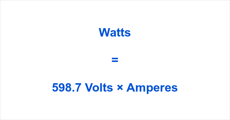 598.7 Volts to Watts