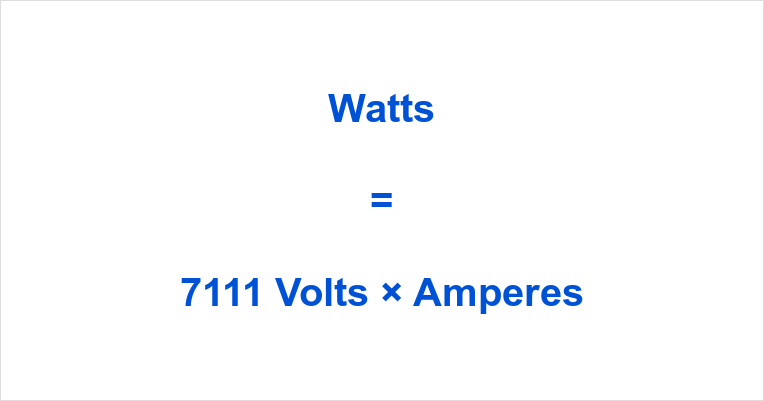 7111 Volts to Watts