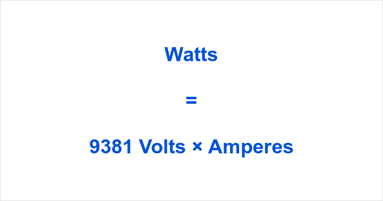 9381 Volts to Watts