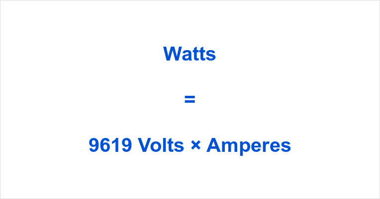 9619 Volts to Watts